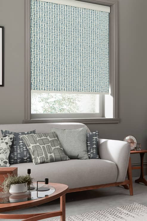 Hieroglyph Denim Roller Roller Blinds