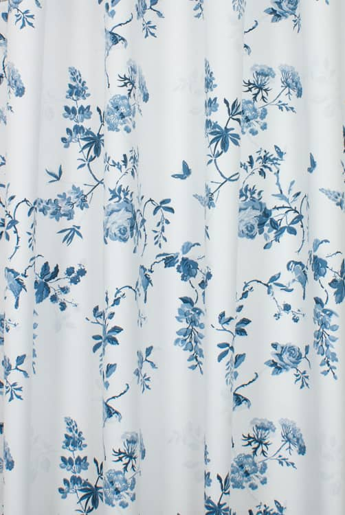 Birds And Roses Blue Roman Blinds