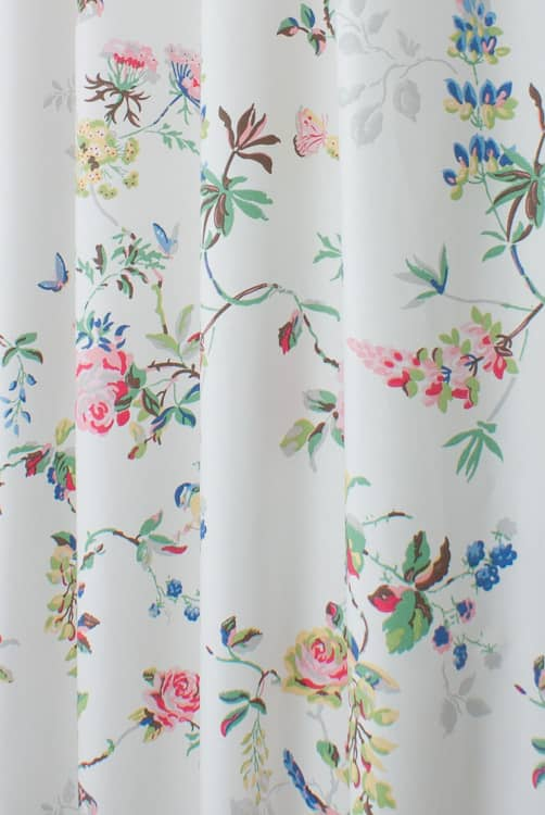 Birds And Roses Multi Curtain Fabric