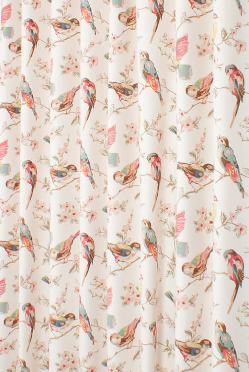 British Birds Pastel Made to Measure Curtains