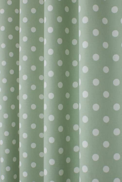 Button Spot Aloe Made to Measure Curtains