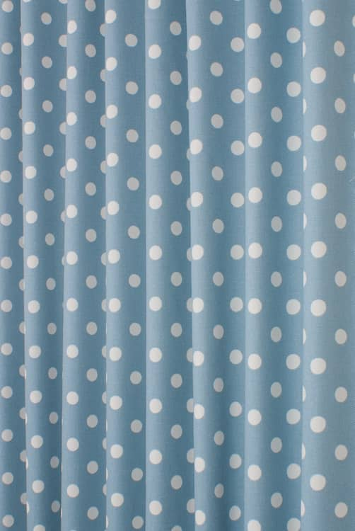 Button Spot Blue Roman Blinds
