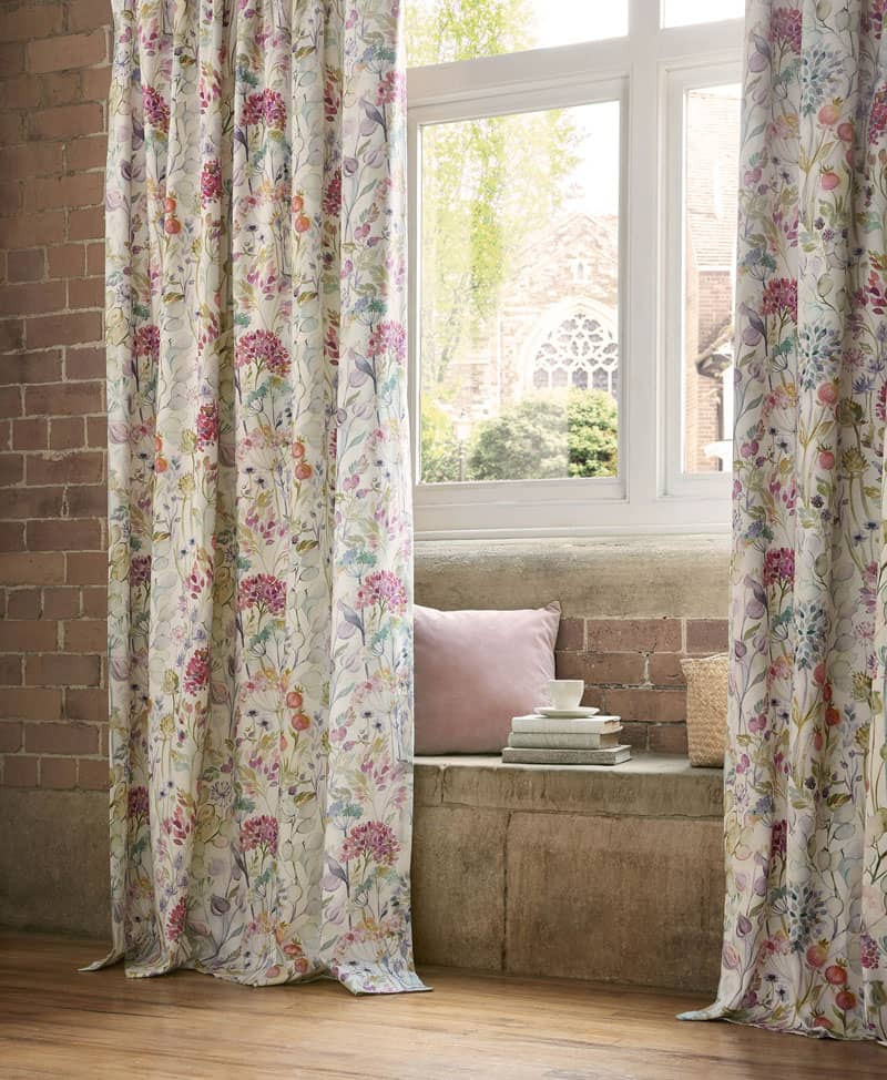 Country Hedgerow Lotus Ready Made Curtains