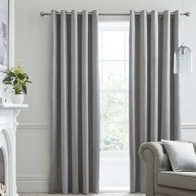 Montrose Silver Ready Made Curtains