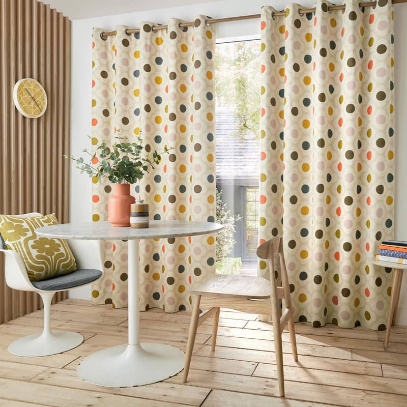 Spot Flower Summer Ready Made Curtains