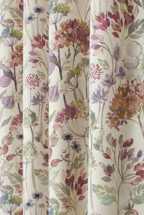 Country Hedgerow Bloom Linen Roman Blinds