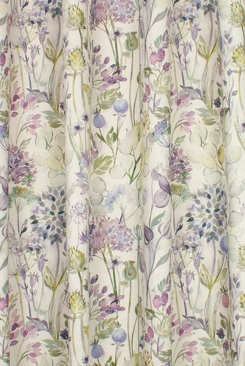 Country Hedgerow Lilac Linen Roman Blinds