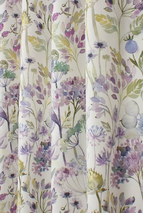 Country Hedgerow Lilac Cream Roman Blinds