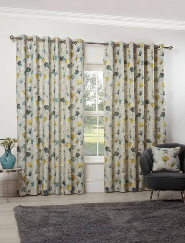 Camarillo Chartreuse Ready Made Curtains