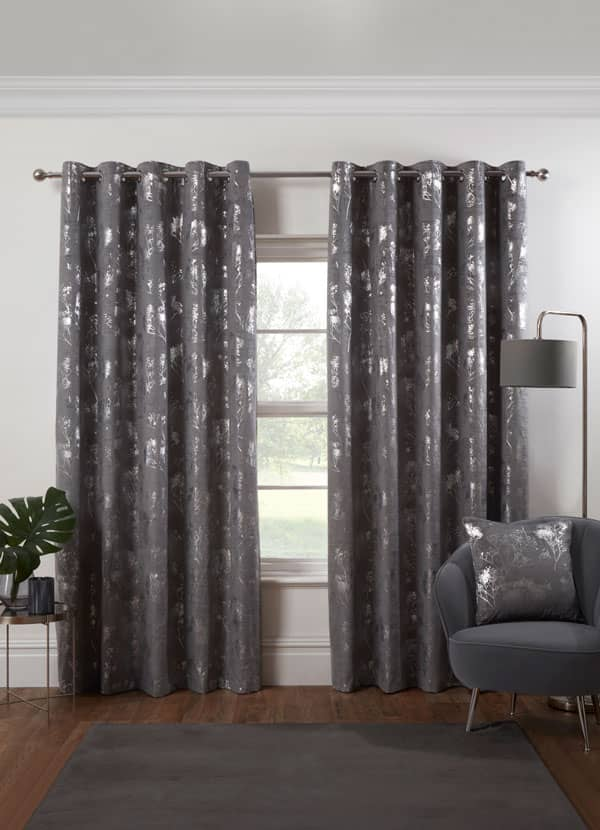 Osaka Silver Ready Made Curtains