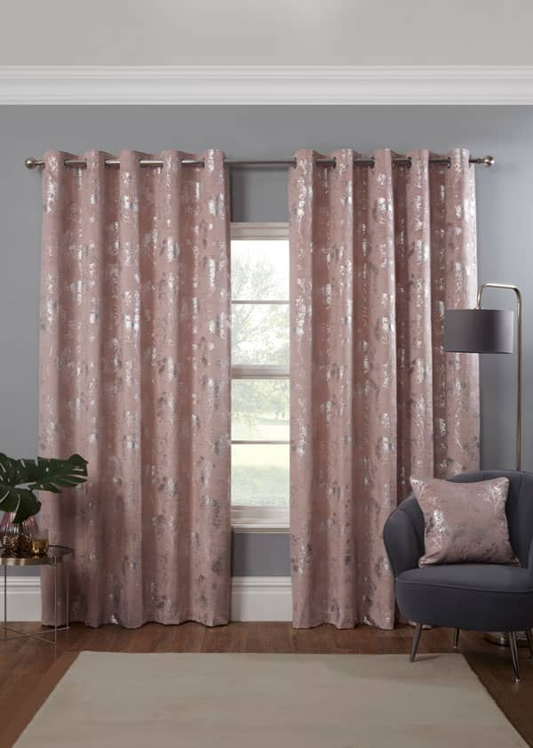 Osaka Blush Ready Made Curtains