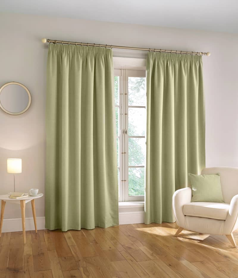 Harvard Green Ready Made Curtains