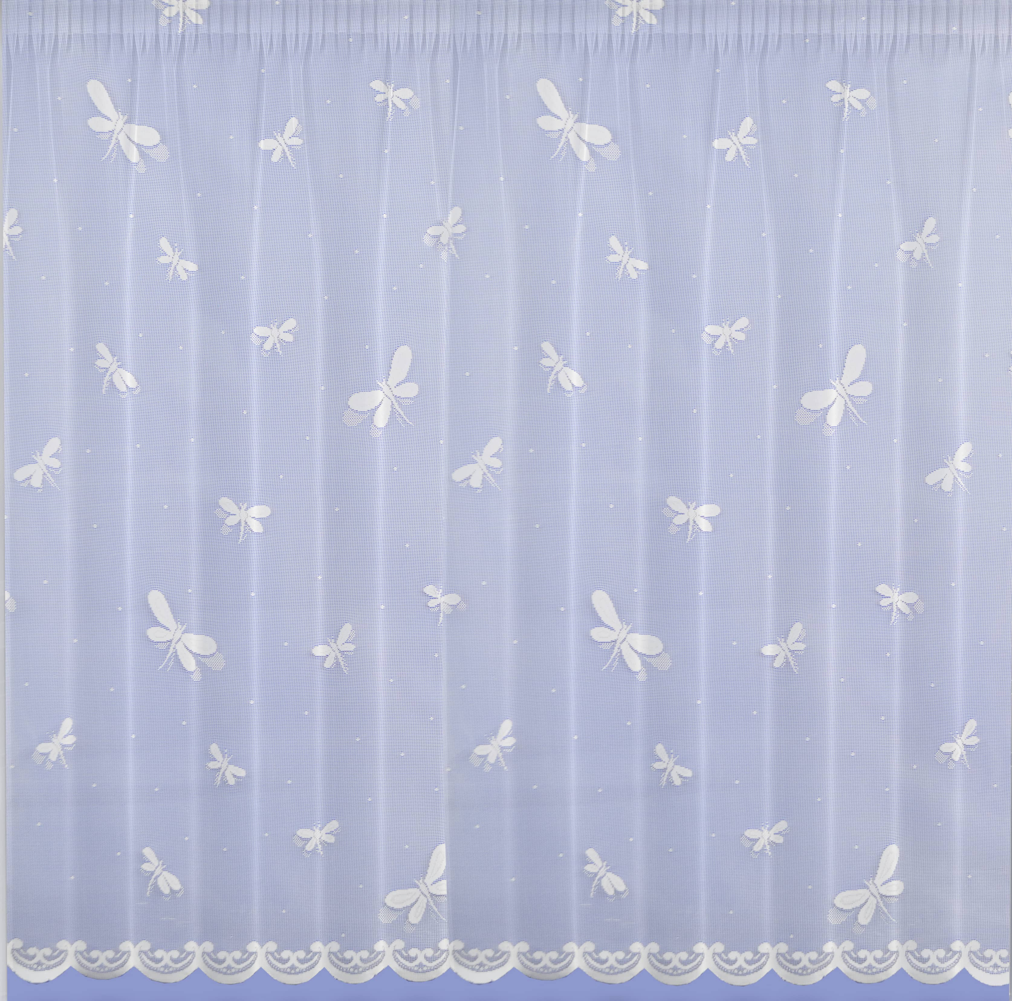 Dragonfly White Net Curtains