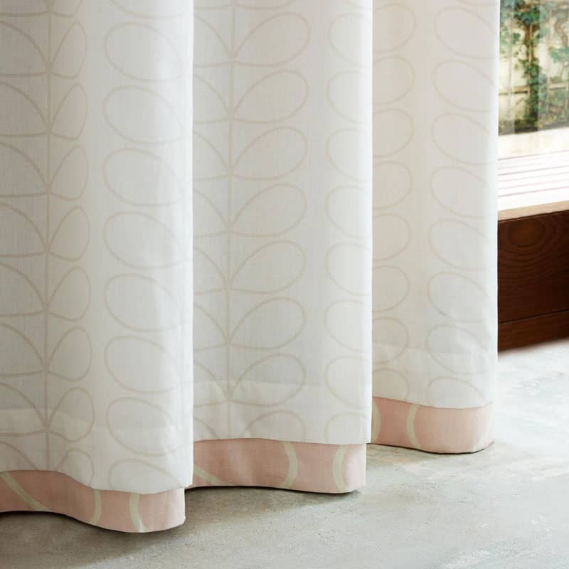 Linear Stem (RM) Pink Ready Made Curtains