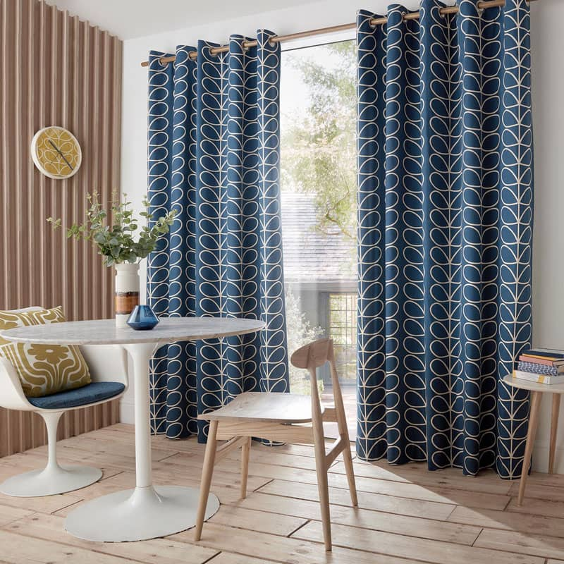 Linear Stem (RM) Whale Ready Made Curtains