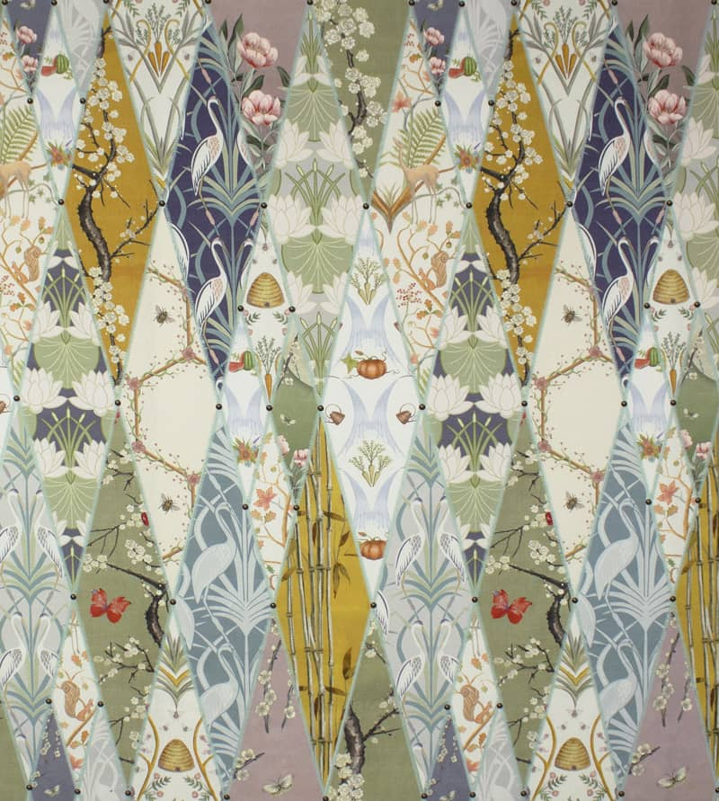 Nouveau Wallpaper Multi Made to Measure Curtains