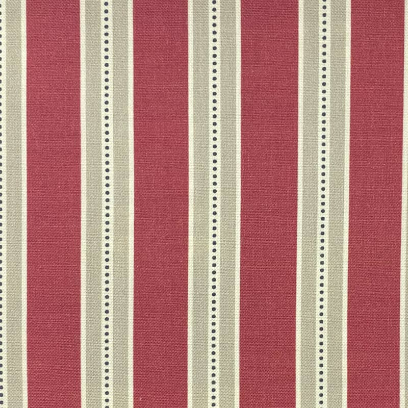 Drayton Raspberry Curtain Fabric