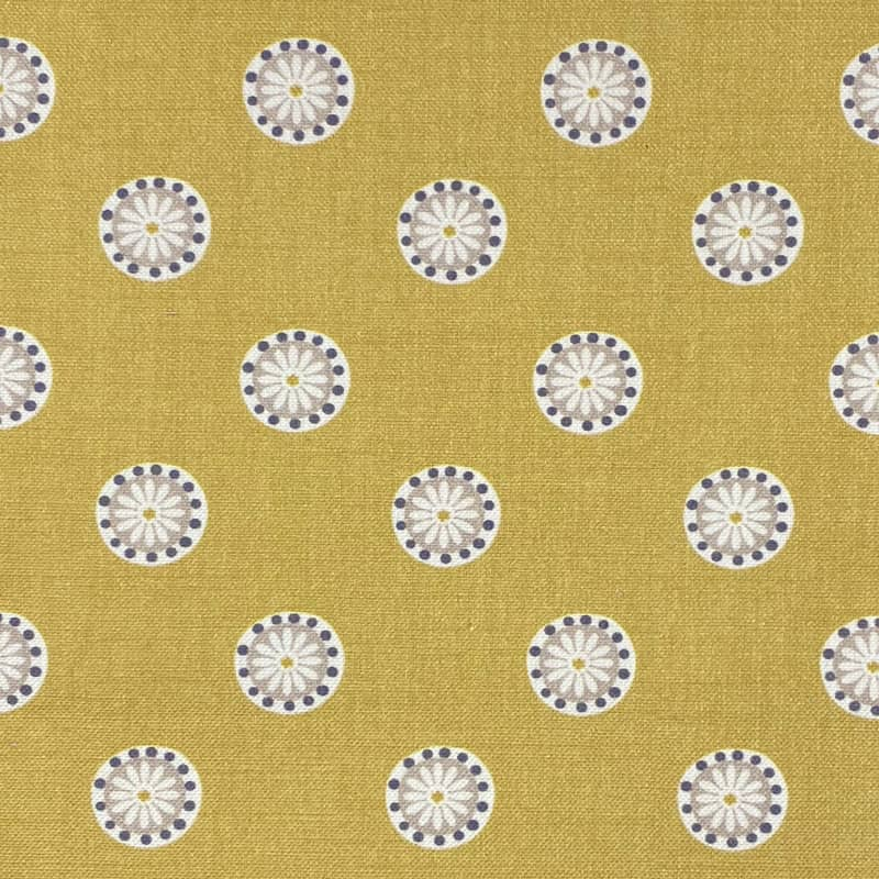 Shenstone Ochre Curtain Fabric