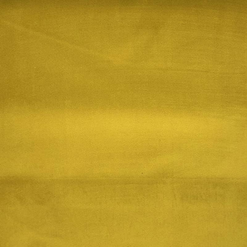 London Velvet Gold Curtain Fabric