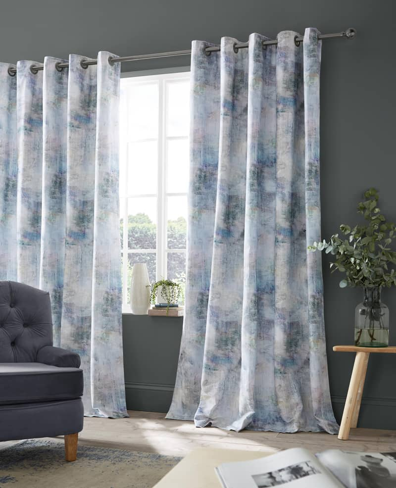 Monet Azurite Ready Made Curtains
