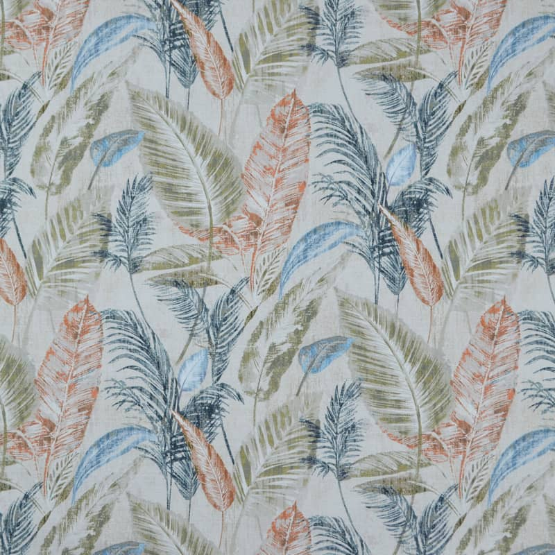 Tropicana Spice/Denim Roman Blinds