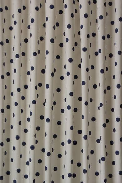Fabric Shower Curtains 84 Inches Long Navy Polka Dot Rugs