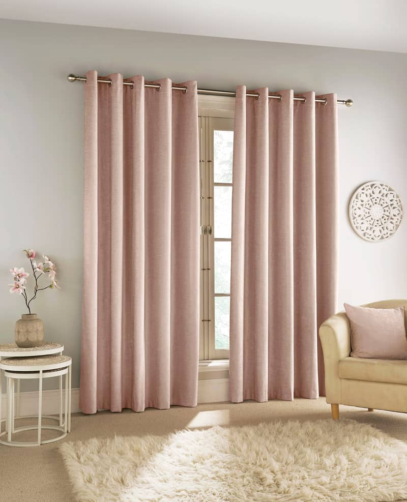 Savoy Blush Ready Made Curtains