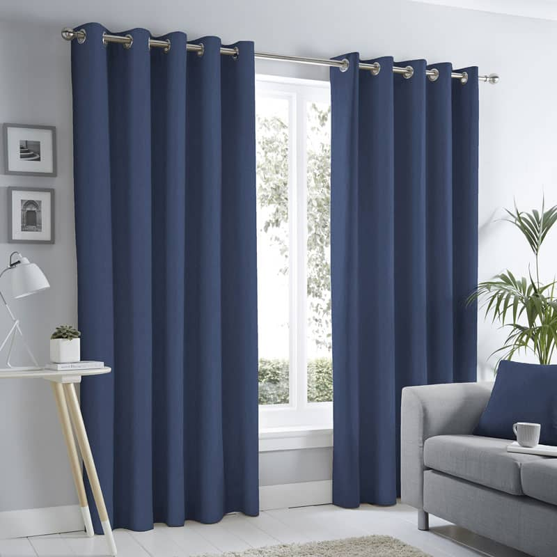 Sorbonne Navy Ready Made Curtains