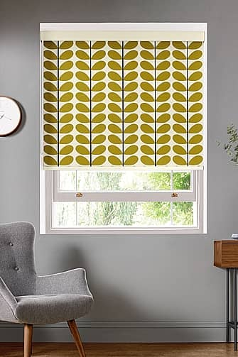Two Colour Stem, Olive Roller Evo Deluxe, Roller Blinds