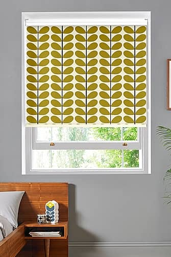 Two Colour Stem, Olive Roller Kappa Standard, Roller Blinds