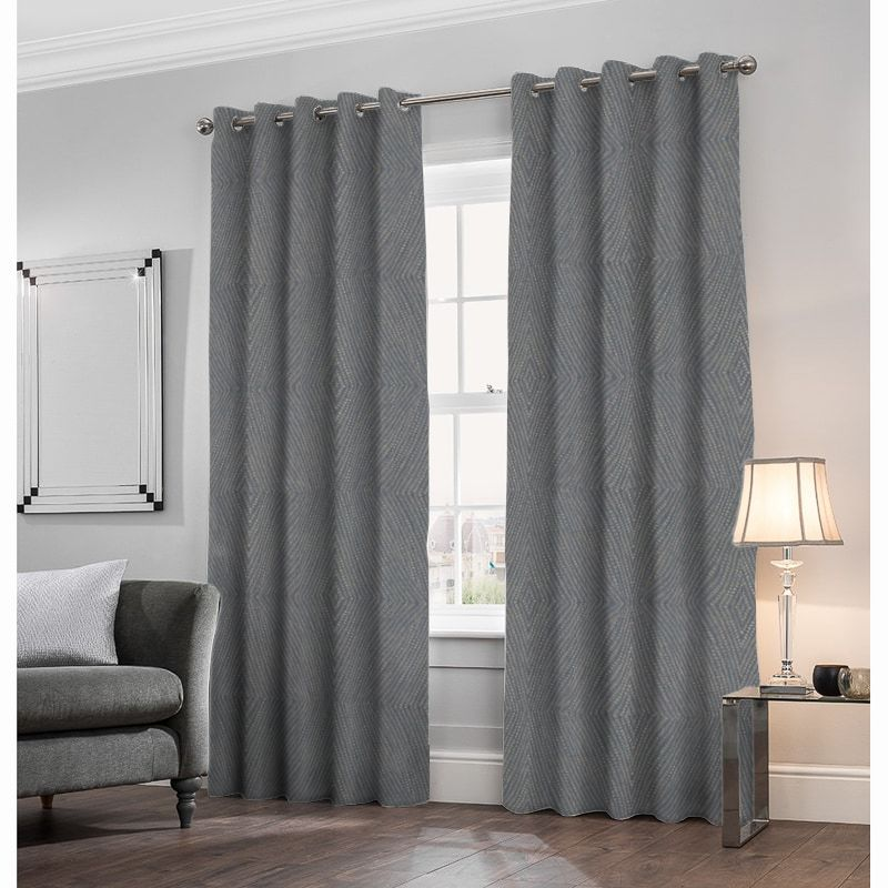 Azara Charcoal Made to Measure Curtains