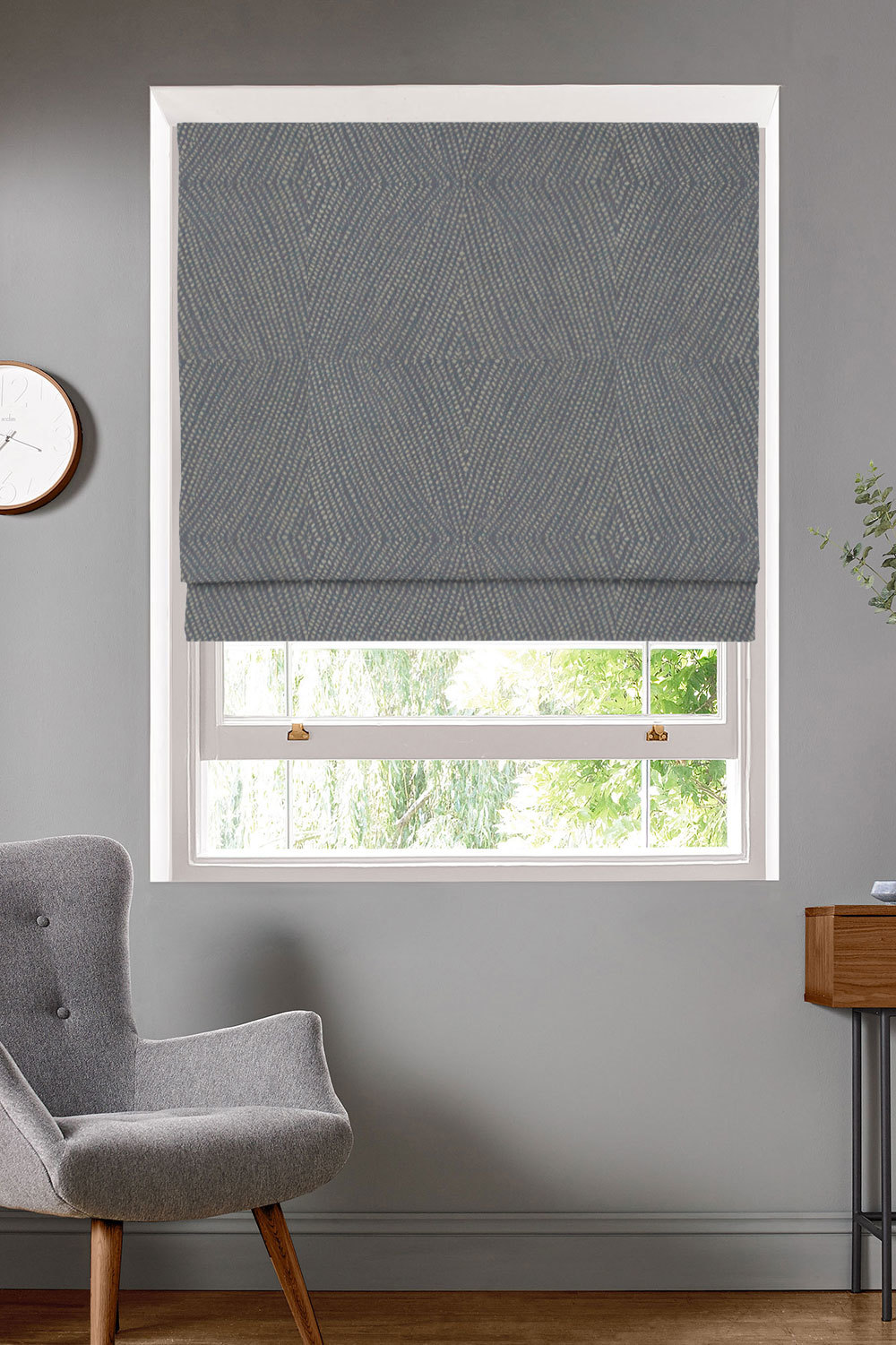 Azara Charcoal Roman Blinds