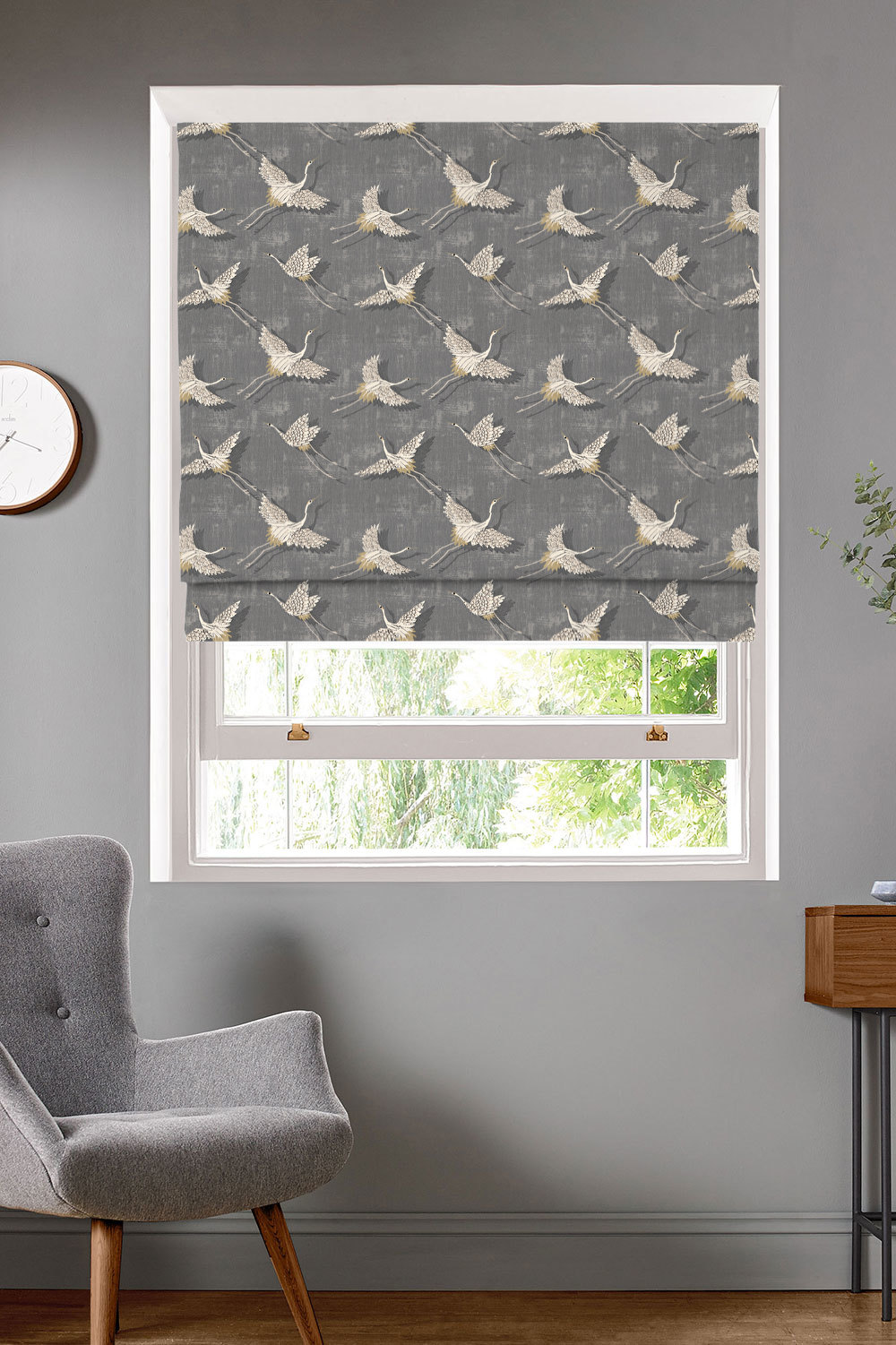 Naoko Slate Roman Blinds