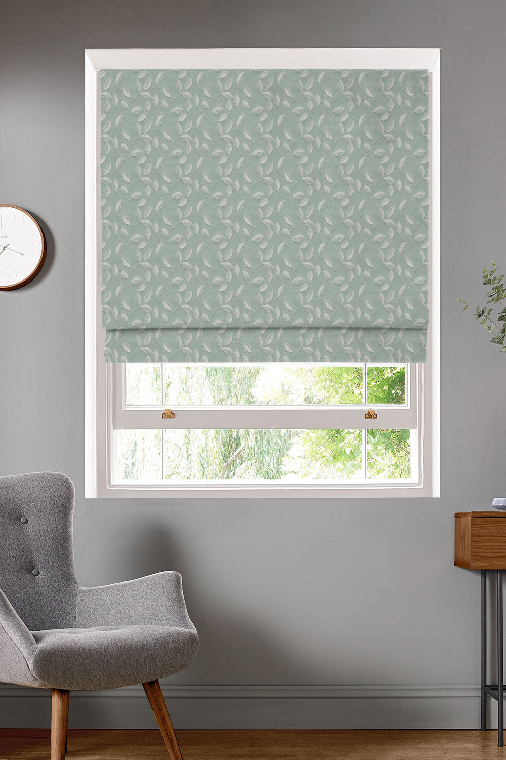 Thurlow Seafoam Roman Blinds