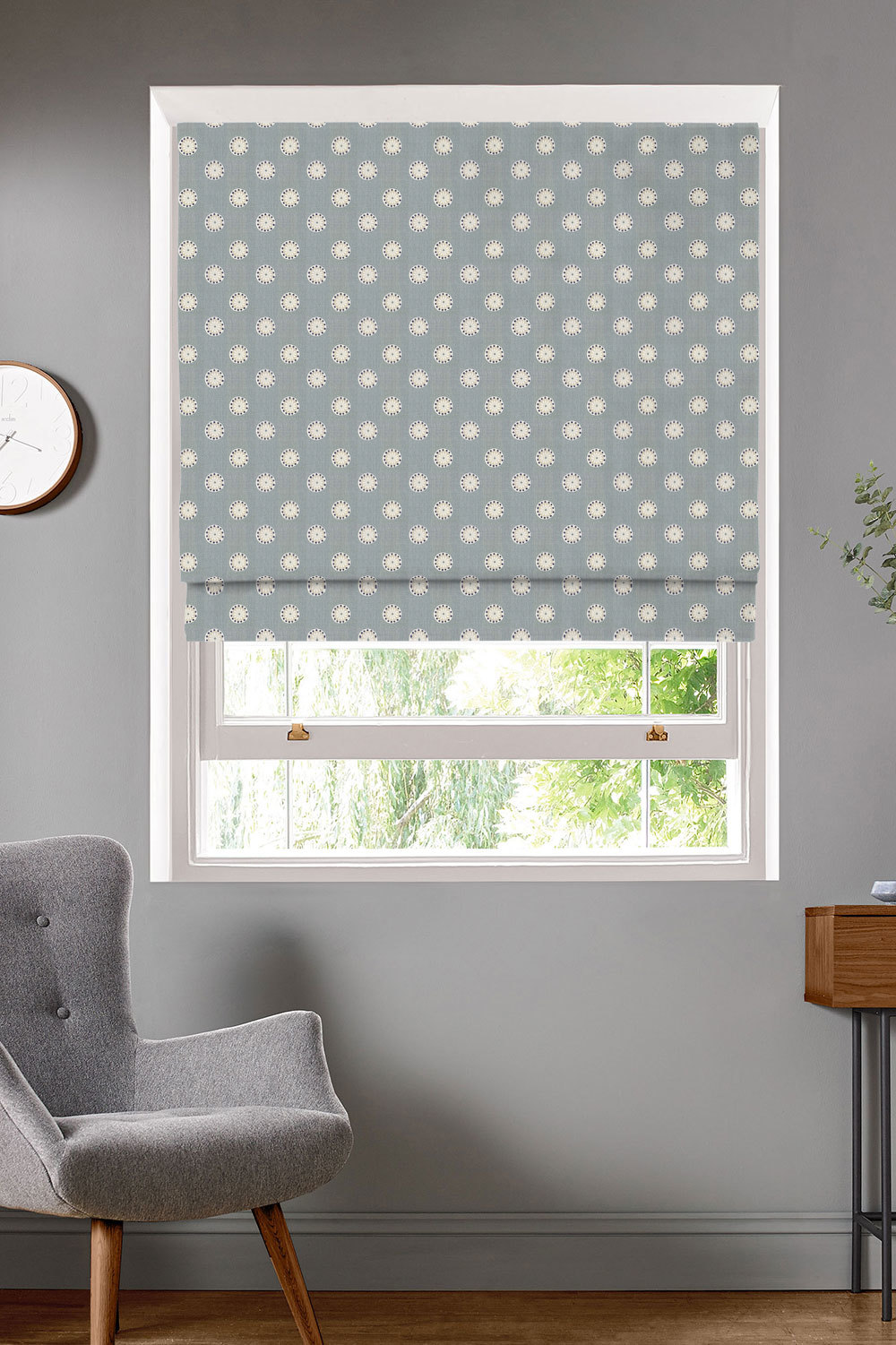 Shenstone Duck Egg Roman Blinds