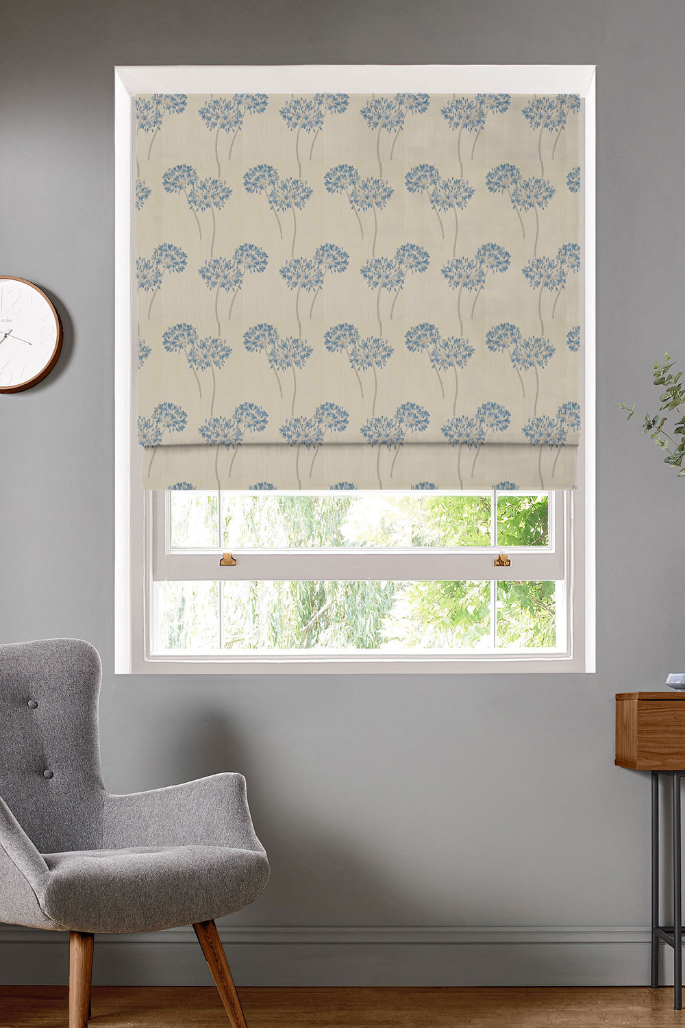 Hepburn Blueberry Roman Blinds