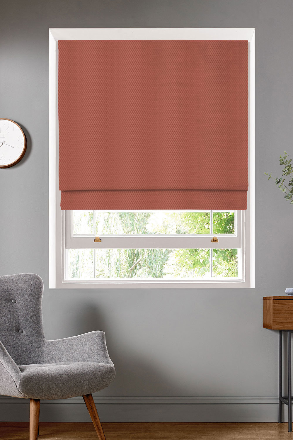 Alie Coral Roman Blinds