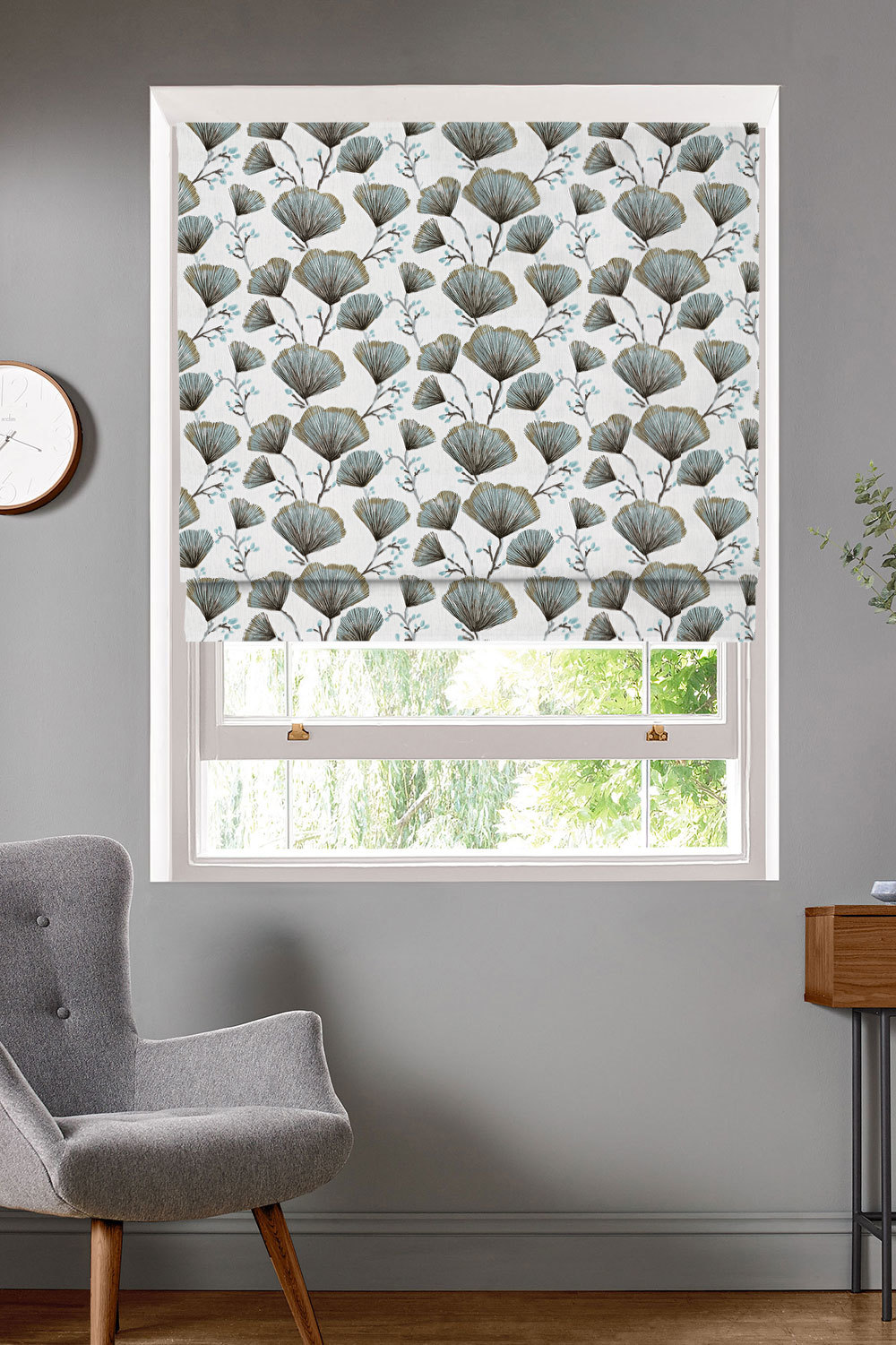 Odin Seafoam Roman Blinds