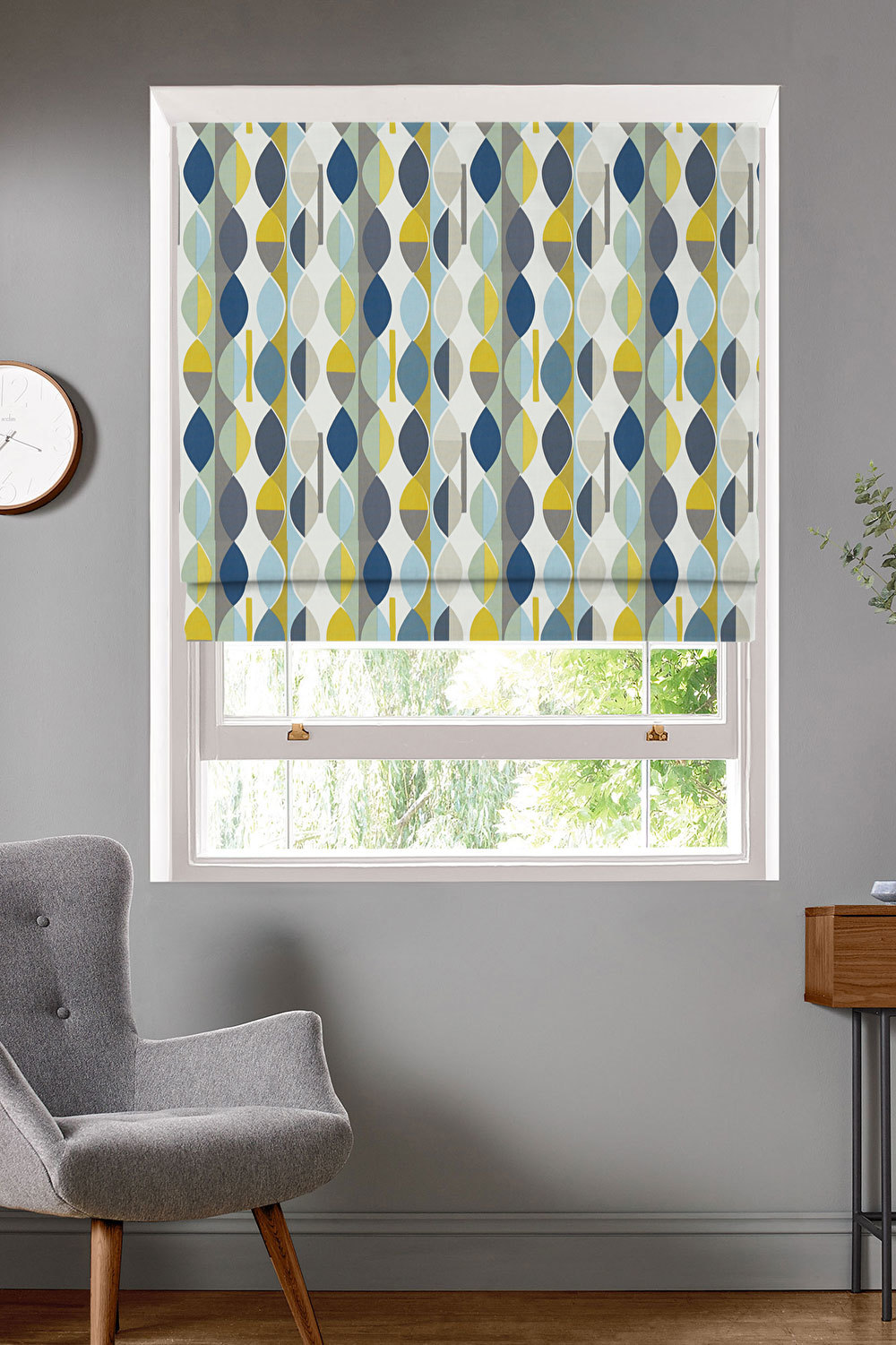 Mabel Bluebell Roman Blinds