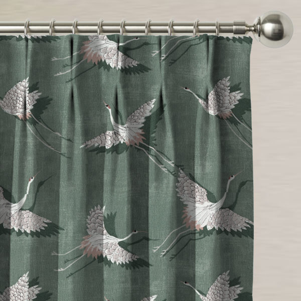 Naoko Olive Made to Measure Curtains