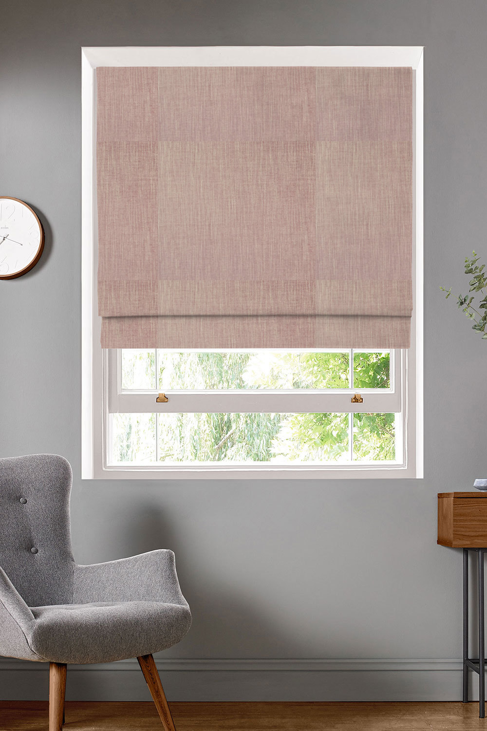 Finn Rose Roman Blinds