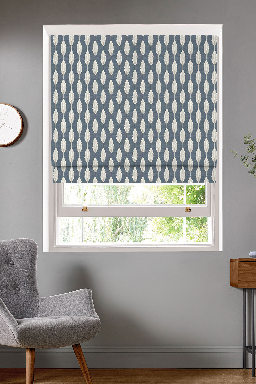 Feather Denim Roman Blinds