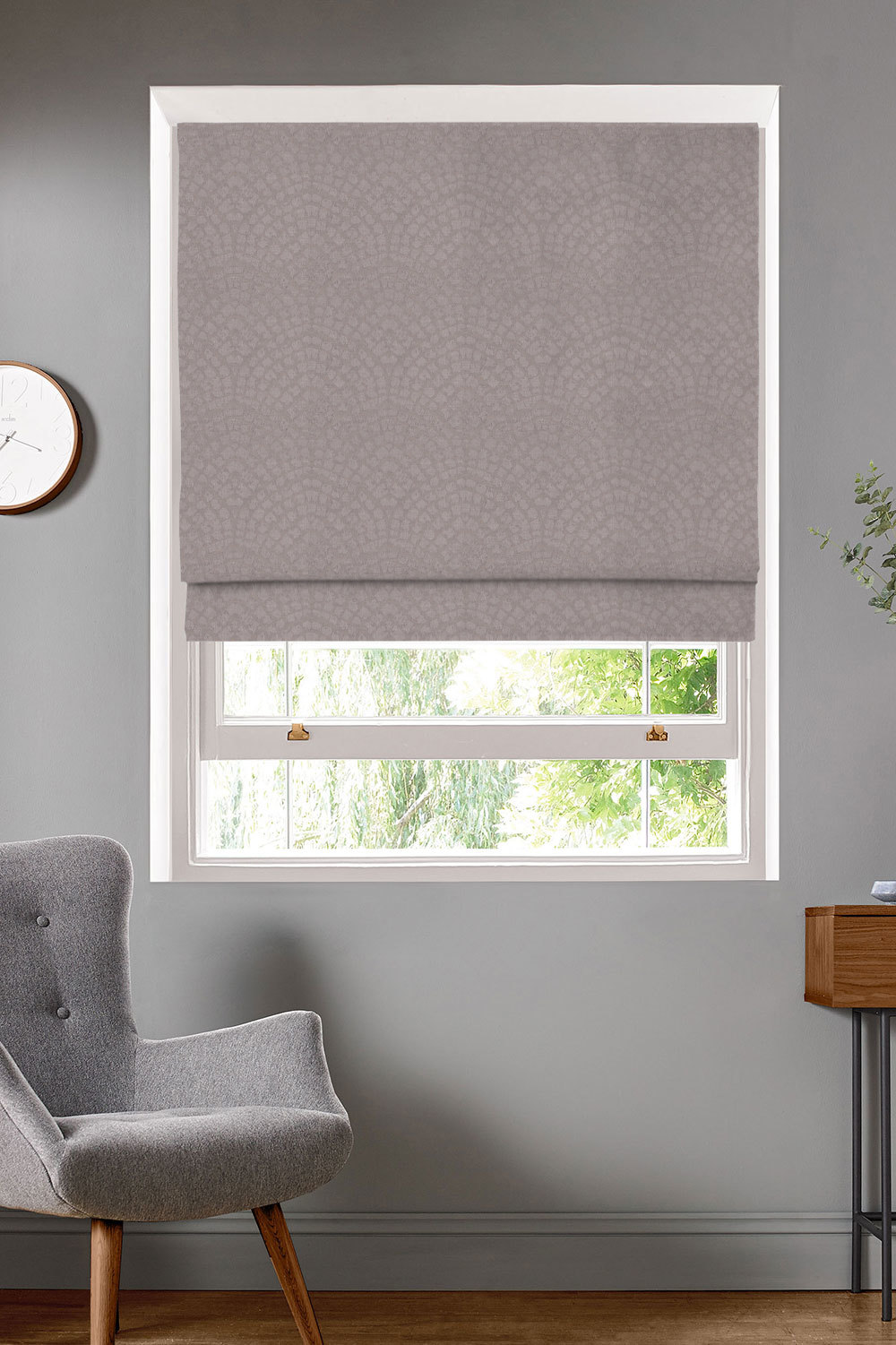 Addison Mauve Roman Blinds