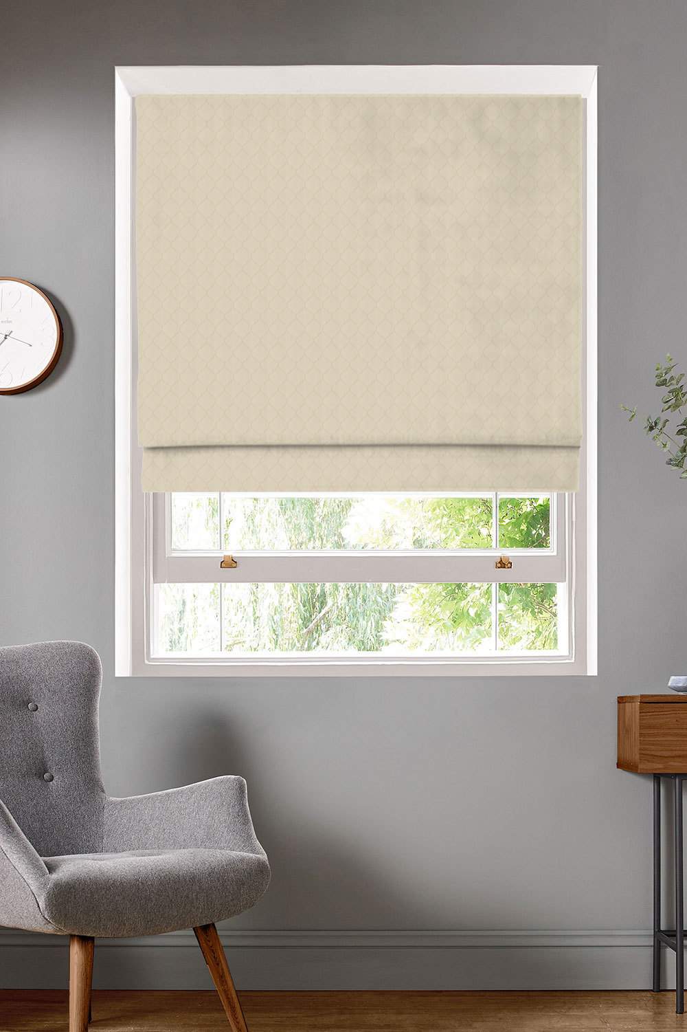 Camley Ivory Roman Blinds