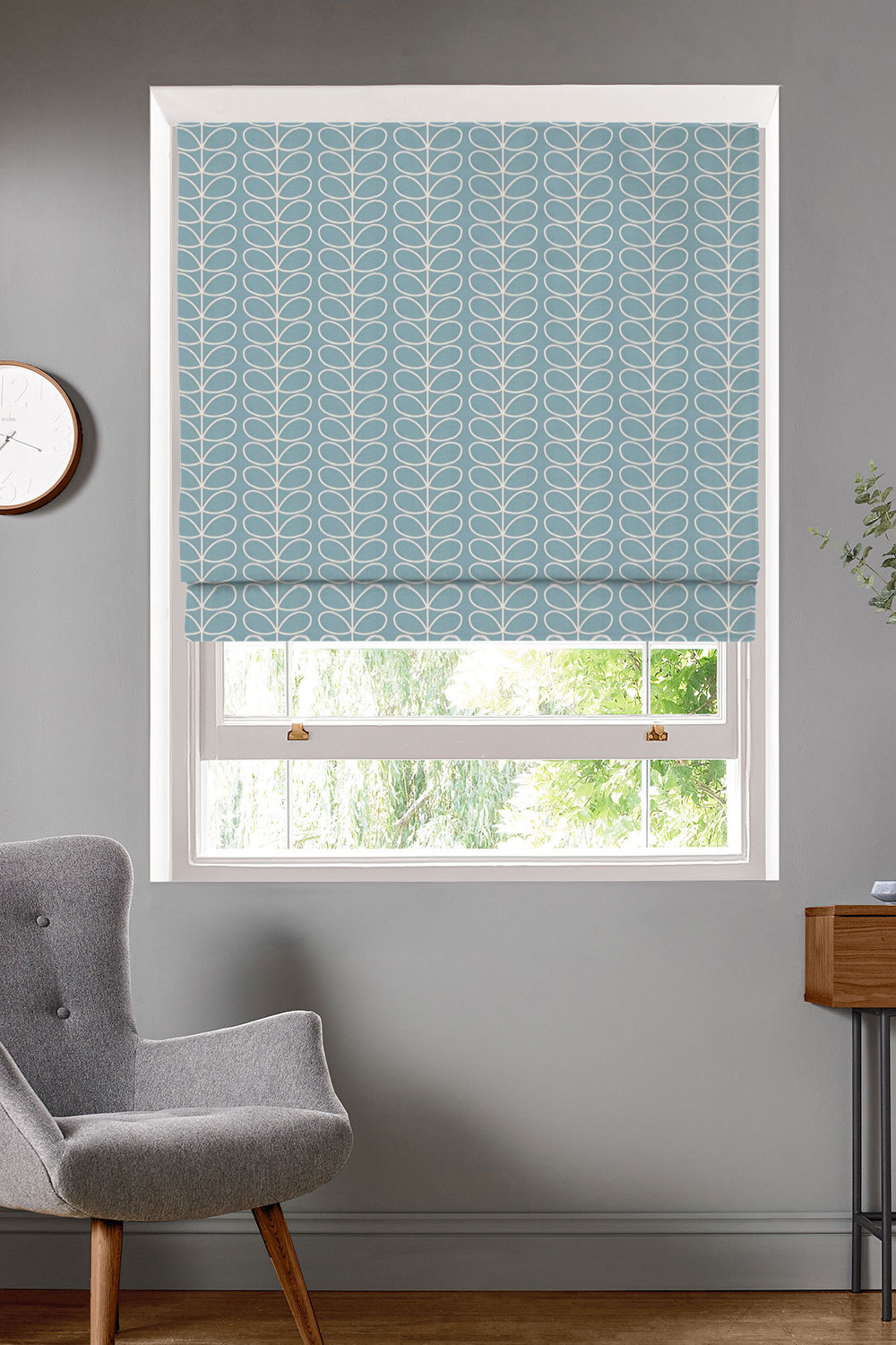 Linear Stem Ziggurat Roman Blinds