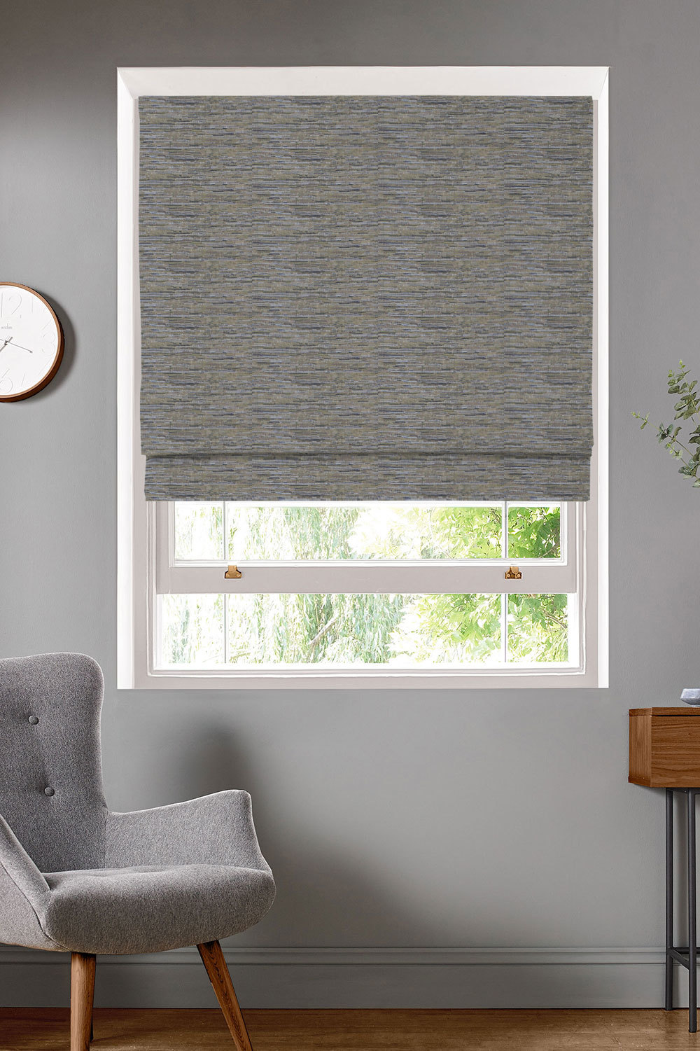 Glitz Copper Roman Blinds
