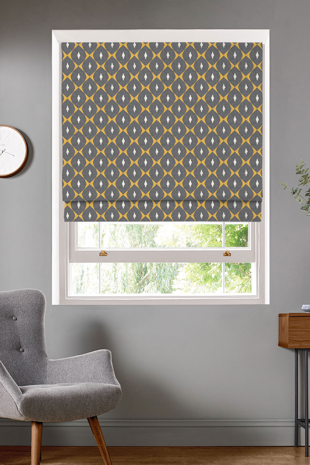 Zari Burnt Ochre Roman Blinds