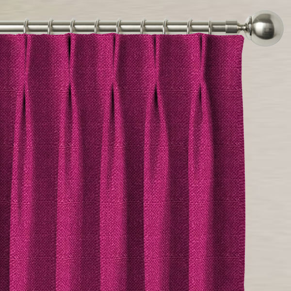 Eden Raspberry Made to Measure Curtains