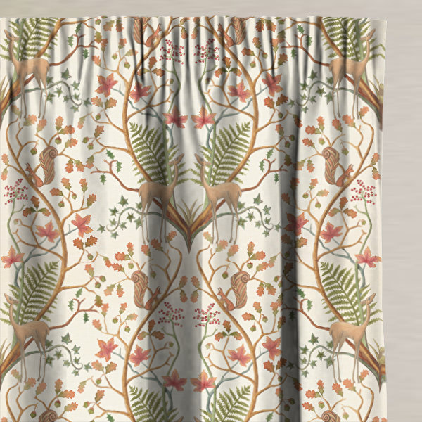 A Woodland Trail Cream Made to Measure Curtains