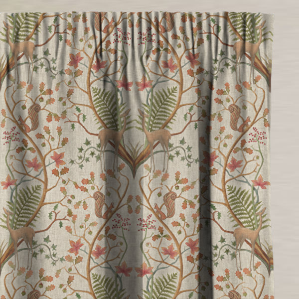 A Woodland Trail Linen Made to Measure Curtains
